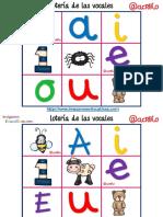 Lotería Bingo de Las Vocales PDF