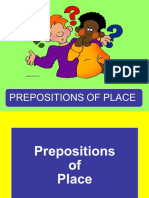 Place Prepositions Flashcards
