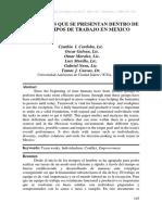 CONFLICTOS QUE SE PRESENTAN DENTRO DE LOS EQUIPOS DE TRABAJO EN MEXICO