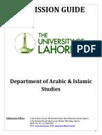Adm.guide Islamic Studies