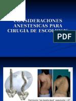 Consideraciones Anestesicas Para Cirugía de Escoliosis1