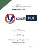 Referat - Herpes Labialis (Patricia Christiani , 07120100016)