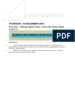 Oracle Internal Order Setup