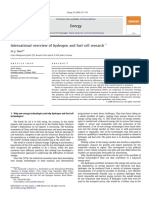 International Overview of Hydrogen and Fuel Cell Research 2009
