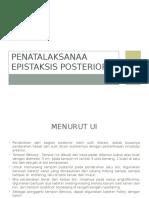 Penatalaksanaa Epistaksis Posterior
