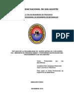 Estudio de La Soldabilidad de Acero Astm a-36 Con Acero Vcl Mediante El Proceso Smaw y Pos