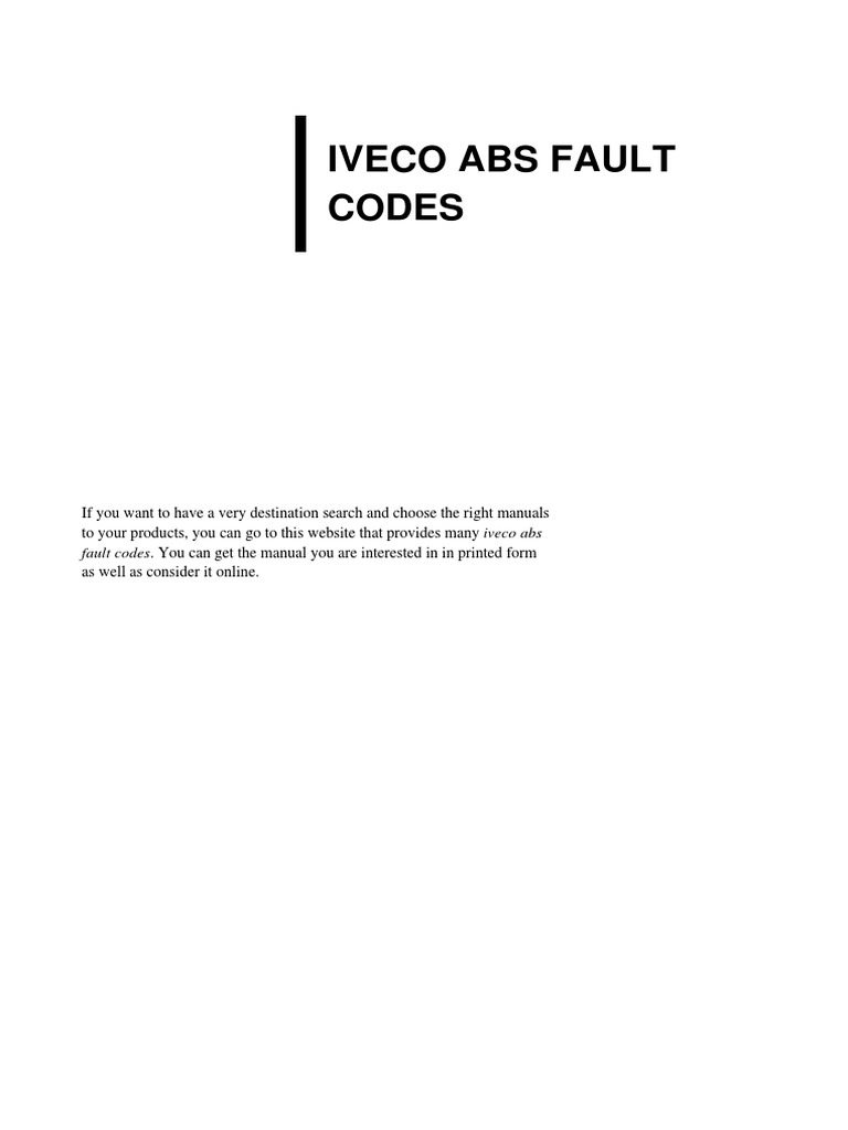 iveco-abs-fault-codes pdf | Websites | Portable Document Format
