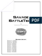 Savage Battletech Rules - Revision 12
