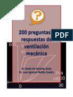 200 Preguntas y Respuestas Sobre Ventilación Mecánica
