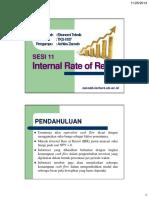 11 Internal Rate of Return