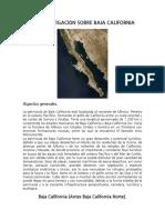 Investigación Sobre Baja California