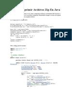 Como Comprimir Archivos Zip en Java
