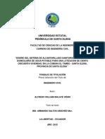DISEÑO DEL SISTEMA DE ALCANTARILLADO SANITARIO, PLUVIAL Y RED DOMICILIARIA DE AGUA POTABLE