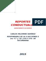 Reportes Conductuales
