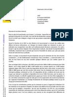 2010.04.30 DLR-  Courrier à F. CHEREQUE
