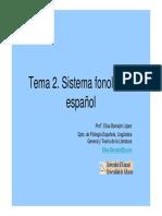 Presentacion_tema2 FONÉTICA ESPÑOLA
