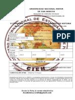 Ficha de Registro de Ponente VCIEH
