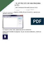 Como Instalar El Xp Pro Sp3 en Una Maquina Virtual