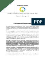 Parecer de Observação n. 5 - As Desigualdade de Escolarização No Brasil - 2014