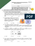 Evaluacion Diagnostica matematica 3ro Sec