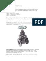 Tipos y Clasificacion de Valvulas