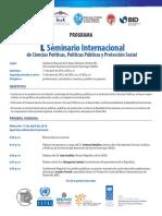 Programa Seminario de Ciencias Políticas, Políticas Públicas y Protección Social