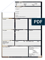 Star Wars D6 Character Sheet