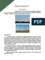 Energie eoliana studiu de vant teren