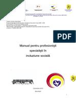 Manual pentru profesionisti specialisti in incluziunea sociala