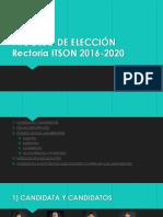 Proceso de Elección Rectoría Itson 2016-2020