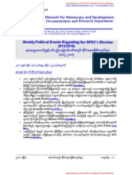 Weekly Political Events Regarding the SPDC's Election (013-2010)