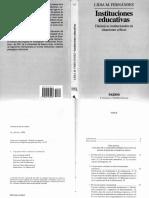 Lidia Fernandez - Instituciones Educativas - Cap 1 y 2