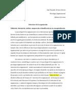 Informe de Lectura - Estructura de Las Organizaciones