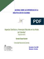 Aspectos Geofísicos y Amenazas Naturales en Los Andes