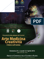 Festival Arte Medicina Creatività - Abbazia Di Chiaravalle 24 e 25 Aprile 2016