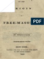 On The Origin of Freemasonry 1910 - Paine.pdf