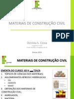 Aula 1 - Materiais de Construção Civil