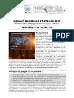 Mash Up de Marseille Provence 2013 - Fiche projet