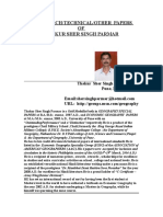 40 Research Technical/Other Papers of Thakur Sher Singh Parmar (1-40)