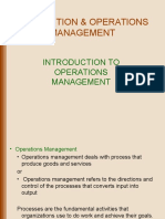 Production and Operation Management Operation