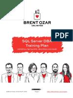 eBook SQL Server DBA Training Plan