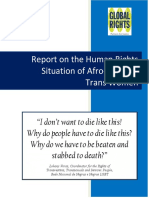 Report on Situation of Afro-Brazilian Trans Women