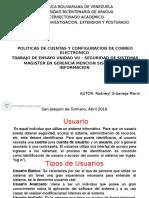 Politicas de Cuentas y Config. de Correos