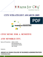 Civic Sense for a Sensitive and Sensible City