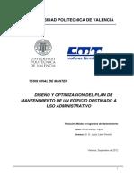 Manuel Viguer Diseño y Optimizacion Del Plan de Mantenimiento de Un Edificio Destinado a Uso Administrativo