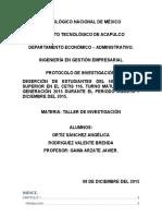 Protocolo de Investigacion- Taller