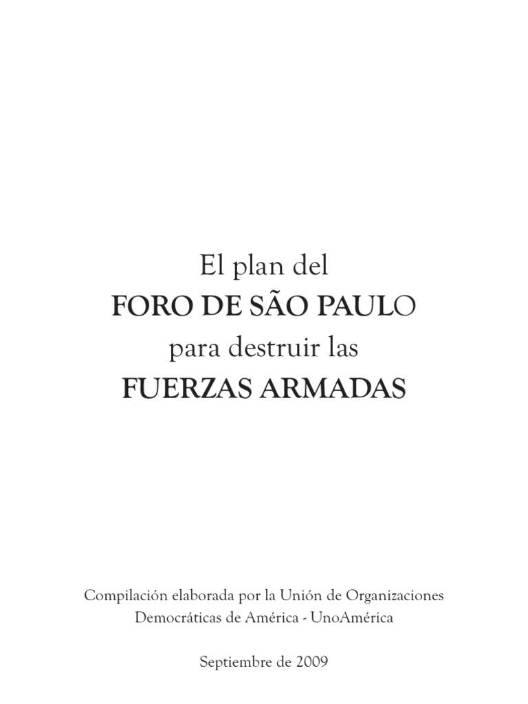 Libro - Plan Del Foro de San Pablo