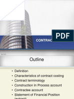 Notes - Contract Costing