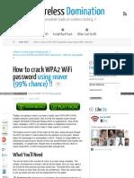 Www Wirelessdomination Com How to Crack Wifi Password Using