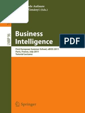 Business Intelligence pdf | Data Warehouse | Business